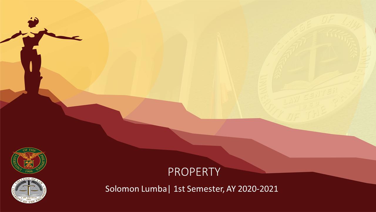Law on Property (Lumba)